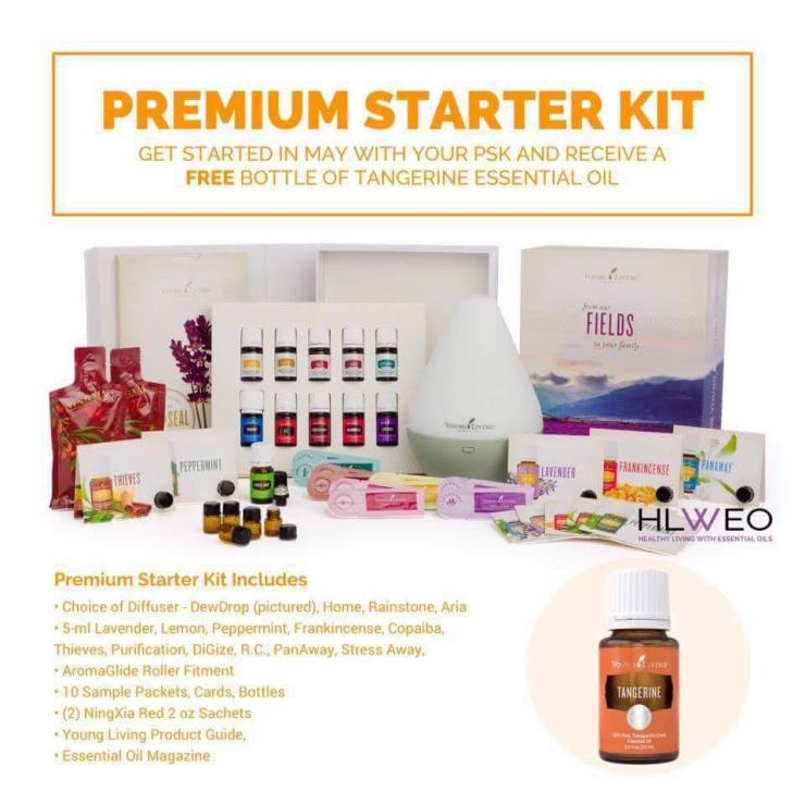 free tangerine essential oil may starter kit